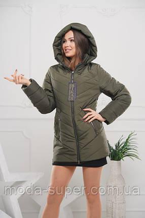 Женская куртка удлинённая рр 44-58, фото 2