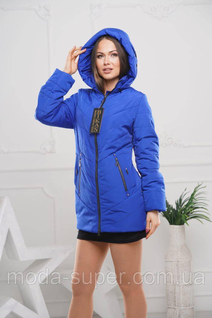 Женская куртка удлинённая рр 44-58