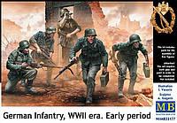 Немецкая пехота, WWII (ранний период). Набор фигур в масштабе 1/35. MASTER BOX 35177