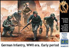 Немецкая пехота, WWII. Ранний период. 1/35 MASTER BOX 35177