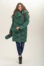 Зимняя куртка  с сьемными  рукавичками рр 46-56