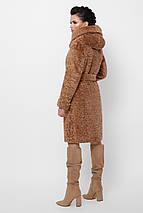 Шуба з экомеха прямого силуету з капюшоном рр 42-48, фото 3