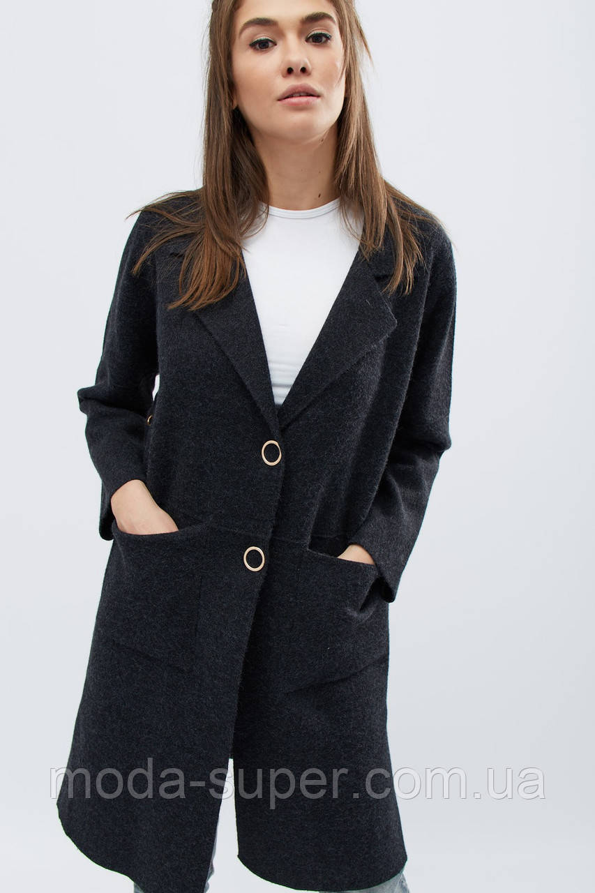 Женское пальто деми на кнопках рр 42-46