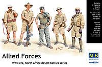 Allied Forces, WWII era, North Africa, desert battles series. 1/35 MASTER BOX 3594