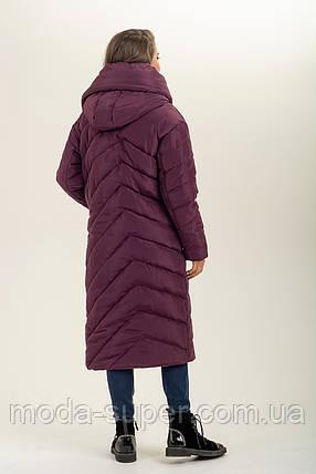 Зимова куртка-ковдра з об'ємним коміром рр 46-56, фото 2