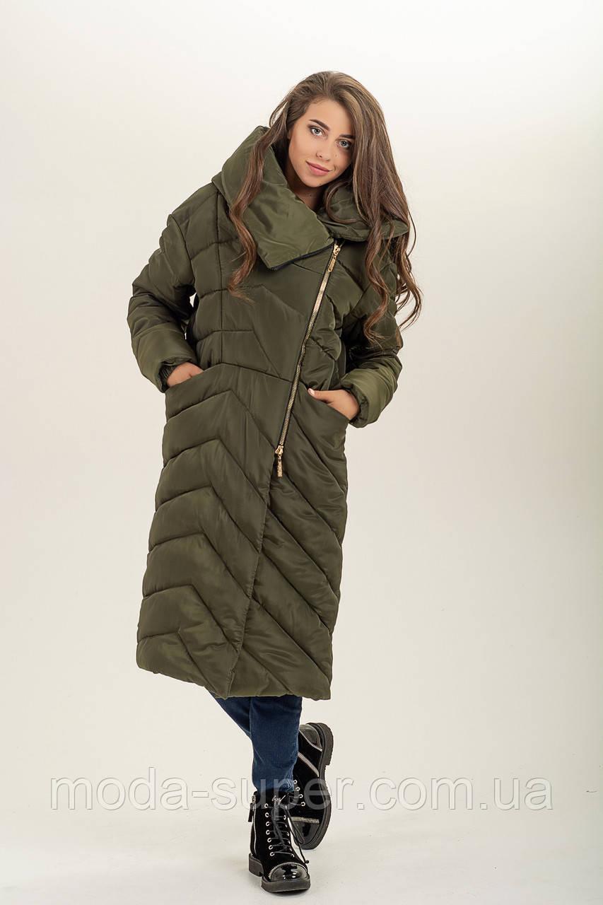 Зимняя  куртка-одеяло с обьемным воротником  рр 46-56