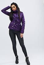 Женская куртка с пояской рр 42-48, фото 2