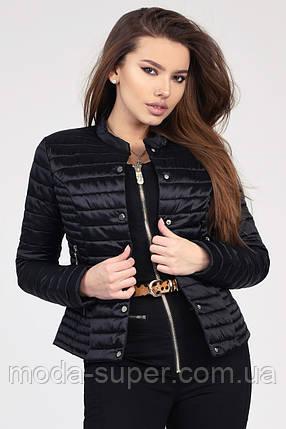 Женская короткая куртка на кнопках рр 42-48, фото 2