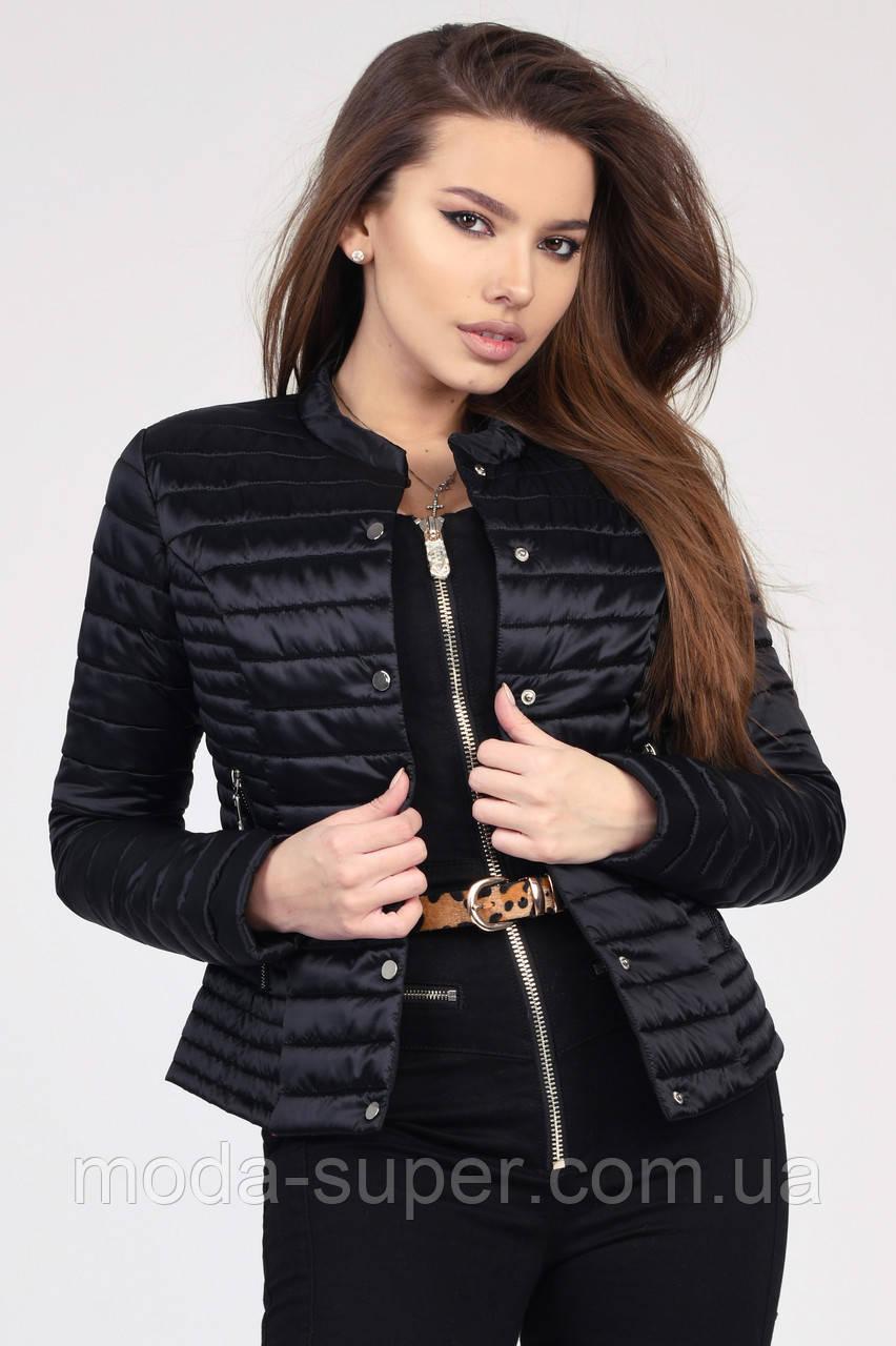 Женская короткая куртка на кнопках рр 42-48