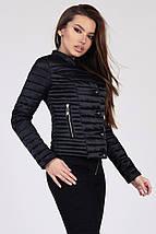 Женская короткая куртка на кнопках рр 42-48, фото 3