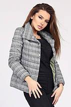 Женская легкая куртка в клетку рр 42-48, фото 2