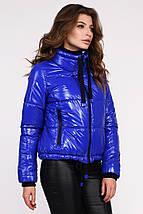 Женская куртка синяя рр 44 и 46, фото 3