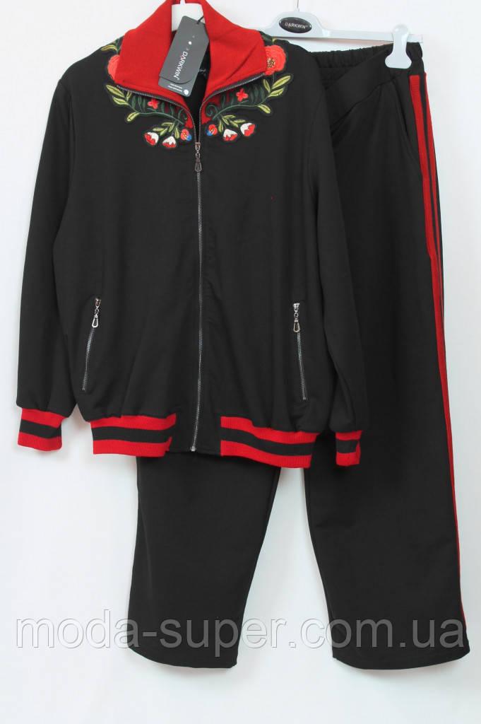 Турецкий женский костюм Darkwin (Турция),с вышивкой и лампасами,рр 54-66