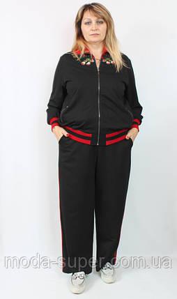 Турецкий женский костюм Darkwin (Турция),с вышивкой и лампасами,рр 54-66, фото 2