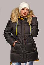 Жіноча зимова куртка з еко-хутром рр 44-56, фото 3