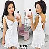Літнє жіноче плаття в горошок (5 кольорів) ЕФ/-403 - Білий