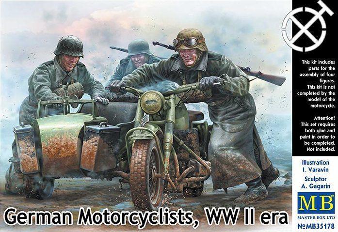 Немецкие мотоциклисты, период Второй мировой войны. 1/35 MASTER BOX 35178
