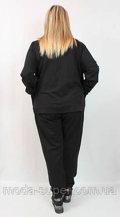 Костюм женский с вставками гипюра и страз,рр 58-66 Luizza(Турция), фото 2