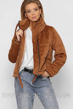 Женская куртка оверсайз из ткани вельвет рр 42-48, фото 2