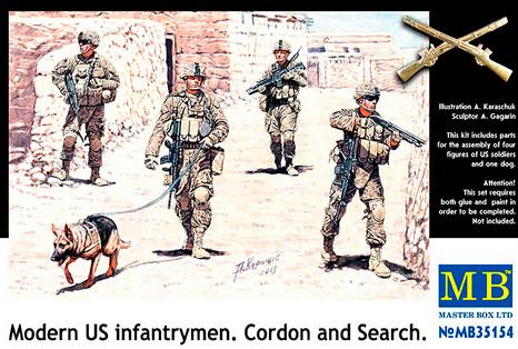 Современные пехотинцы США. Набор пластиковых фигур в масштабе 1/35. MASTER BOX 35154