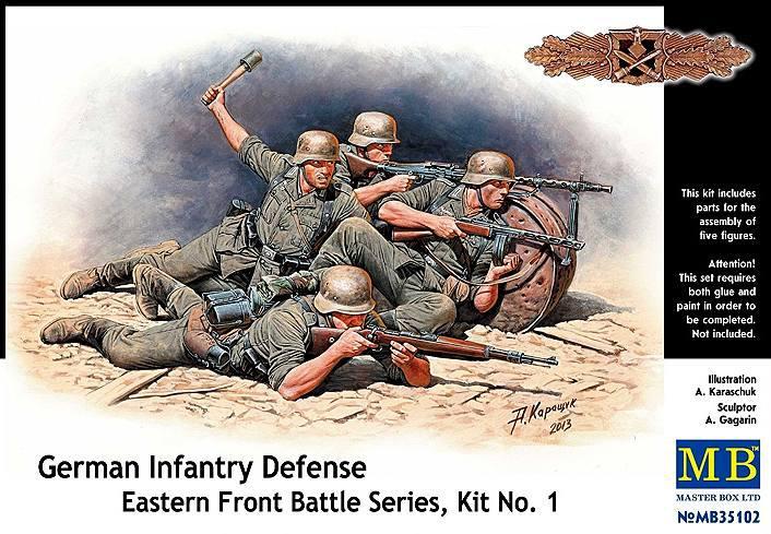 Немецкая пехота в обороне, Серия битв на Восточном фронте, набор №1. 1/35 MASTER BOX 35102