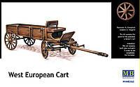 Сборная пластиковая модель западноевропейской телеги. 1/35 MASTER BOX 3562