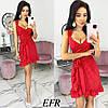 Летнее платье женское в горошек (5 цветов) ЕФ/-403 - Красный