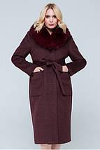 Зимнее пальто с шелевым воротником,большие размеры   рр 48-56, фото 3
