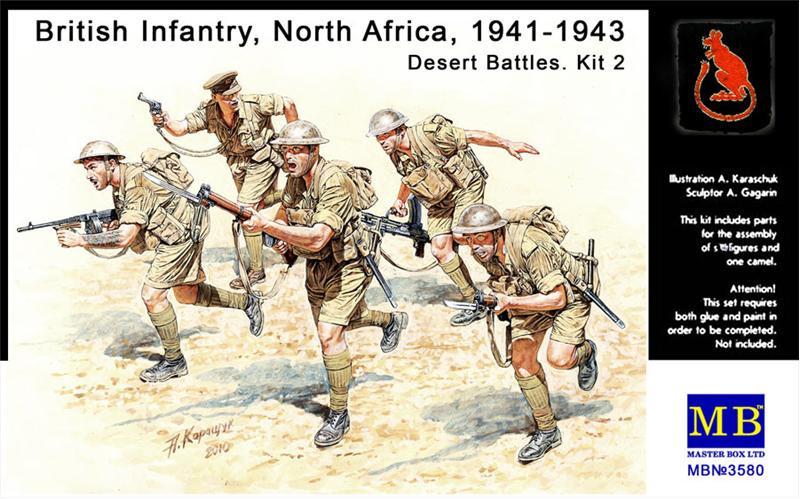 Британская пехота, Северная Африка, 1941-1943, набор 2. 1/35 MASTER BOX 3580