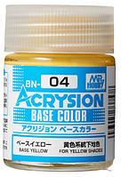 Базовый жёлтый 18 мл. ACRYSION BASE COLOR BN04