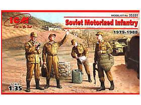 Набор фигур Советская мотопехота Афганистан 1979-1988. 1/35 ICM 35331