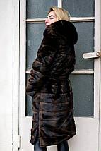 Стильная шубка из искусственного меха норки  рр 42-56, фото 2
