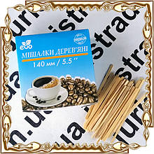 Мешалка для кофе ECO деревянная XXL  (140*5*1.8 мм.)