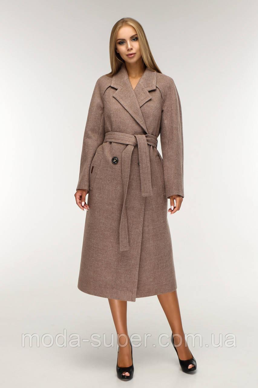 Женское полуприлегающее пальто деми рр 44