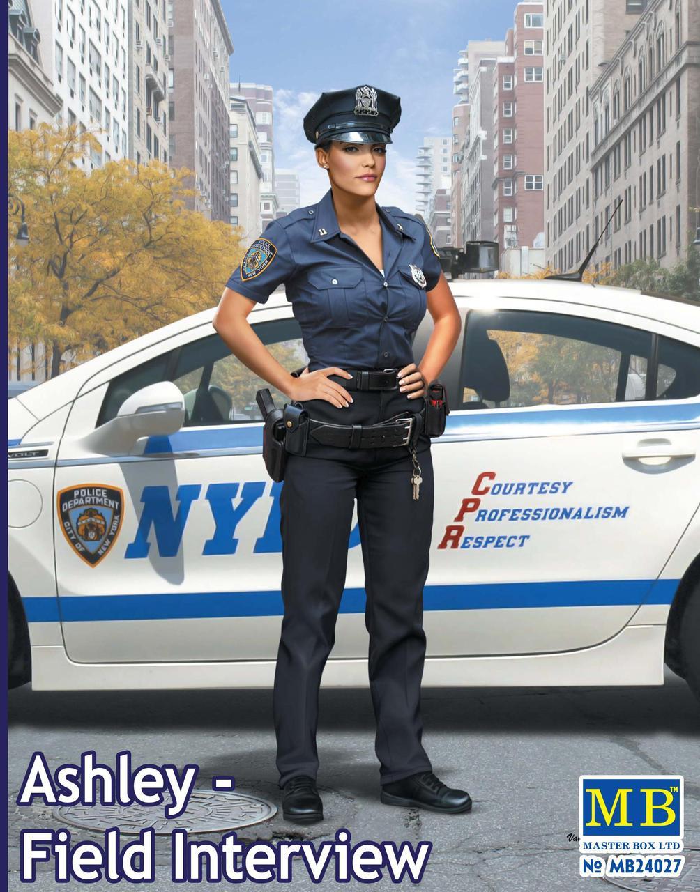 Фигура американского полицейского в масштабе 1/24. MASTER BOX 24027