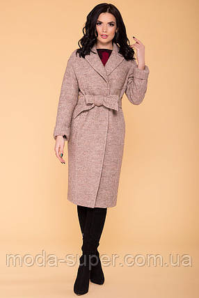 Жіноче пальто весна-осінь c приспущеною лінією плеча рр S M L, фото 2