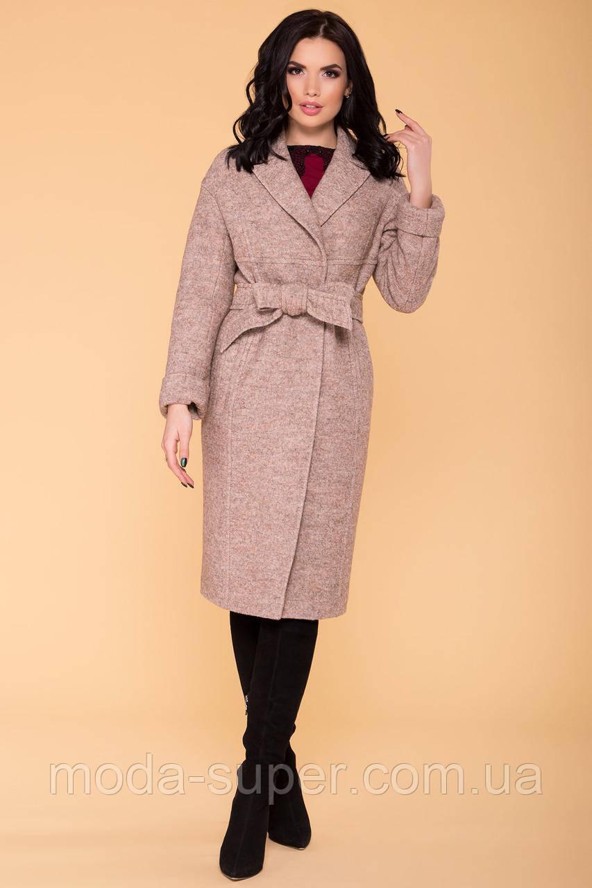 Жіноче пальто весна-осінь c приспущеною лінією плеча рр S M L