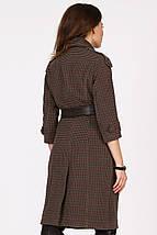 Женское пальто в мелкую клетку рр 42-48, фото 2