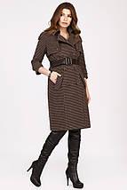 Женское пальто в мелкую клетку рр 42-48, фото 3