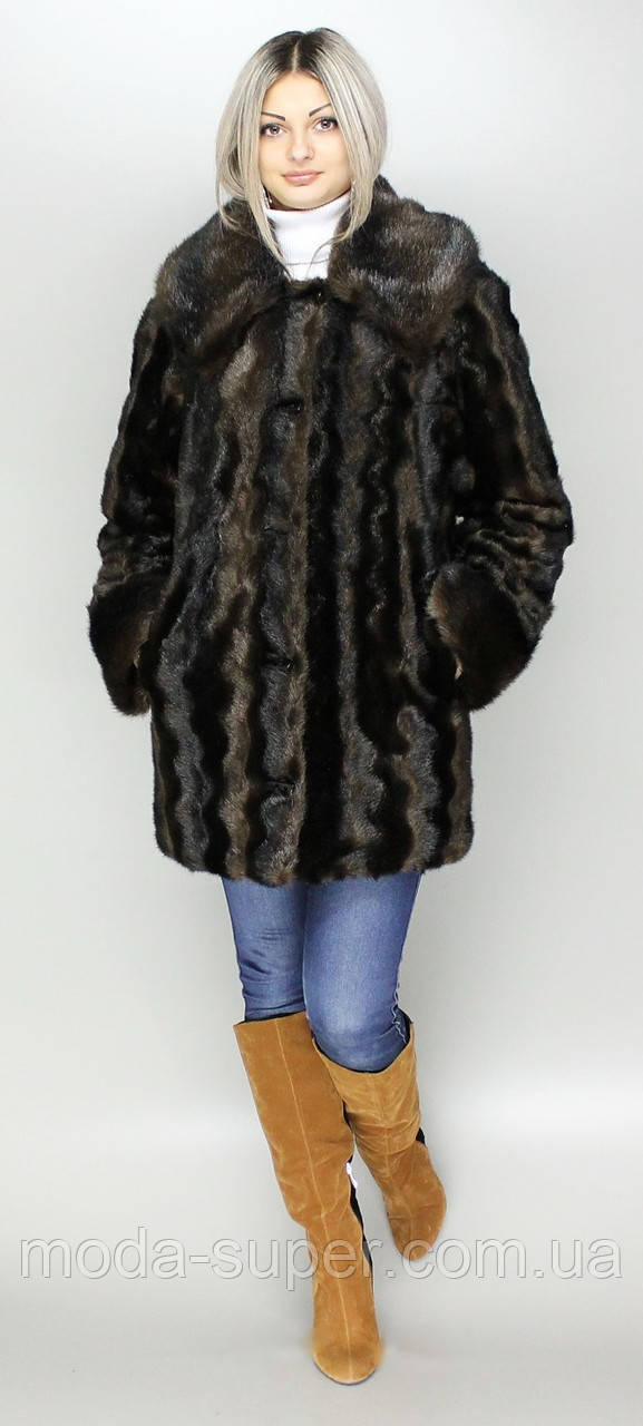 Роскошная женская шуба коричневая норка,эко-мех,с капюшоном,рр 44-58