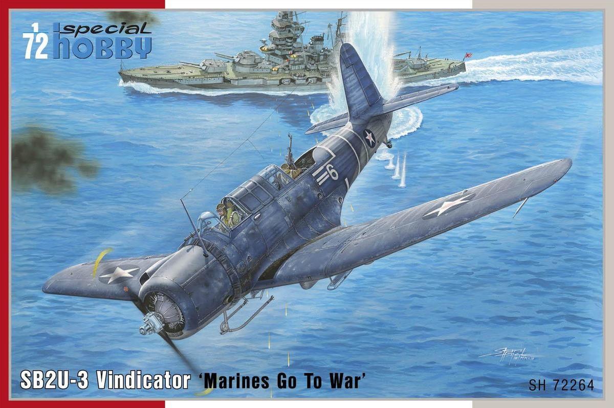 "SB2U-3 Vindicator ""Marines Go To War"". 1/72 SPECIAL HOBBY 72264"
