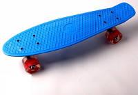 "Пенни борд (Penny Board) 22\"" \""Fish\"" со светящимися колесами, Синий, фото 1"