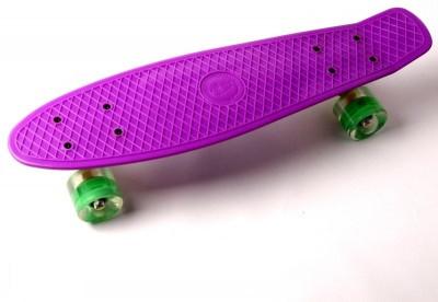 """Пенни борд (Penny Board) 22\"""" \""""Fish\"""" со светящимися колесами, Фиолетовый"""