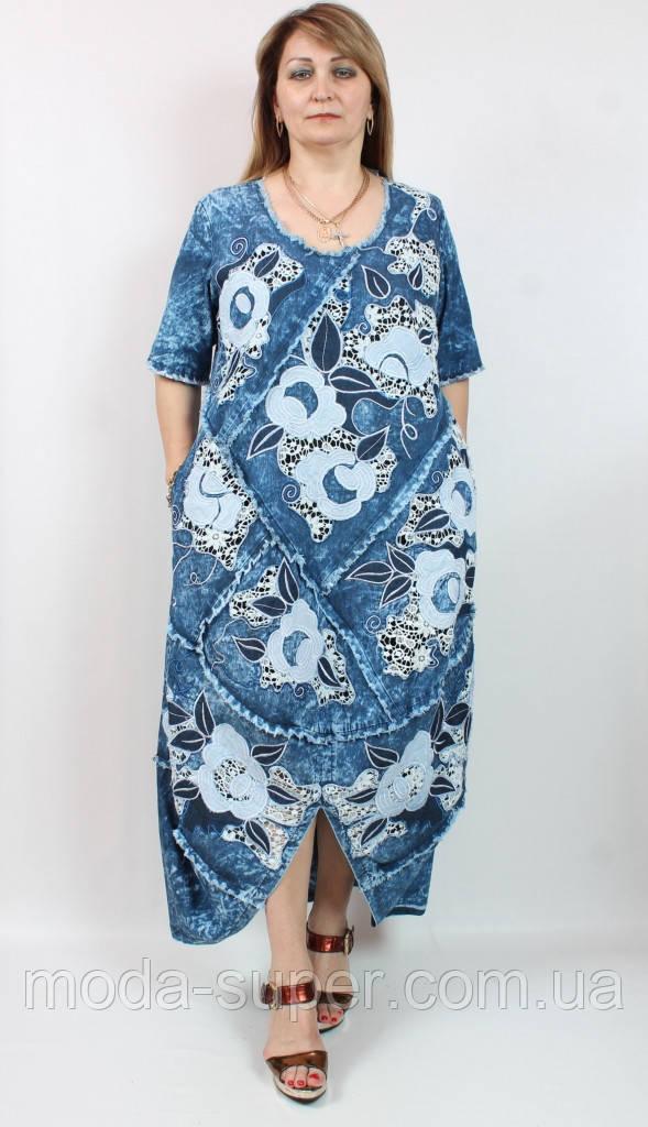 Стильне джинсове сукню Pompadur Туреччина рр 52-62