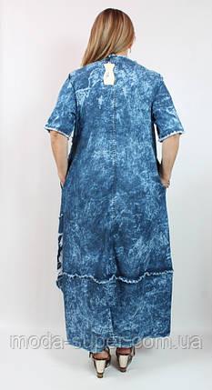 Стильне джинсове сукню Pompadur Туреччина рр 52-62, фото 2