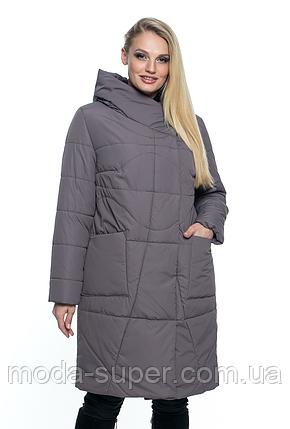 Женская весенняя удлинённая куртка с капюшоном  рр 46-60, фото 2