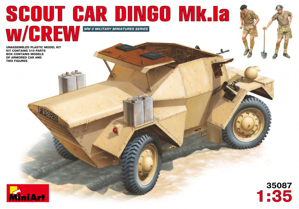 РАЗВЕДЫВАТЕЛЬНЫЙ БРОНЕАВТОМОБИЛЬ ДИНГО Mk.1a с ЭКИПАЖЕМ. 1/35 MINIART 35087