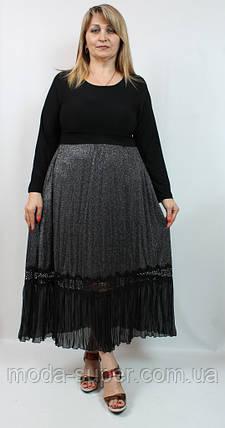 Гарне плаття з довгими рукавами Darkwin Туреччина рр 52-58, фото 2