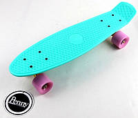 "Пенни борд (Penny Board) 22\"" \""Pastel Series\"" с матовыми колесами розового цвета, Бирюзовый, фото 1"