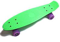 """Пенни борд (Penny Board) 22\"""" \""""Pastel Series\"""" со светящимися колесами, Мятный, фото 1"""